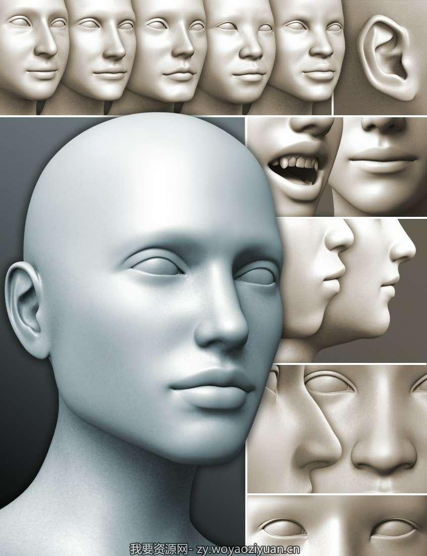 200 Plus – Head & Face Morphs for Genesis 3 Female(s)