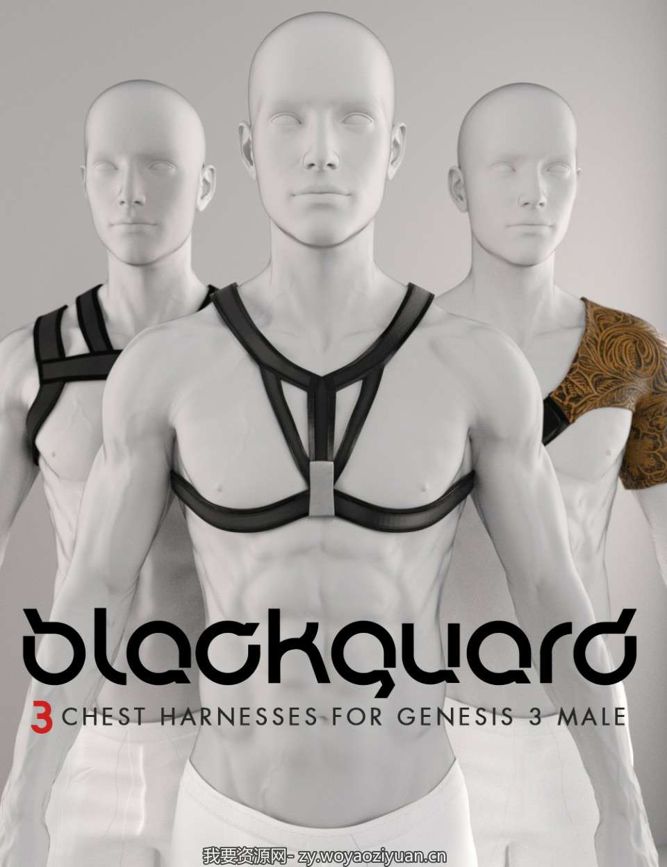 Shimuzu's Blackguard 3 Harnesses for Genesis 3 Male
