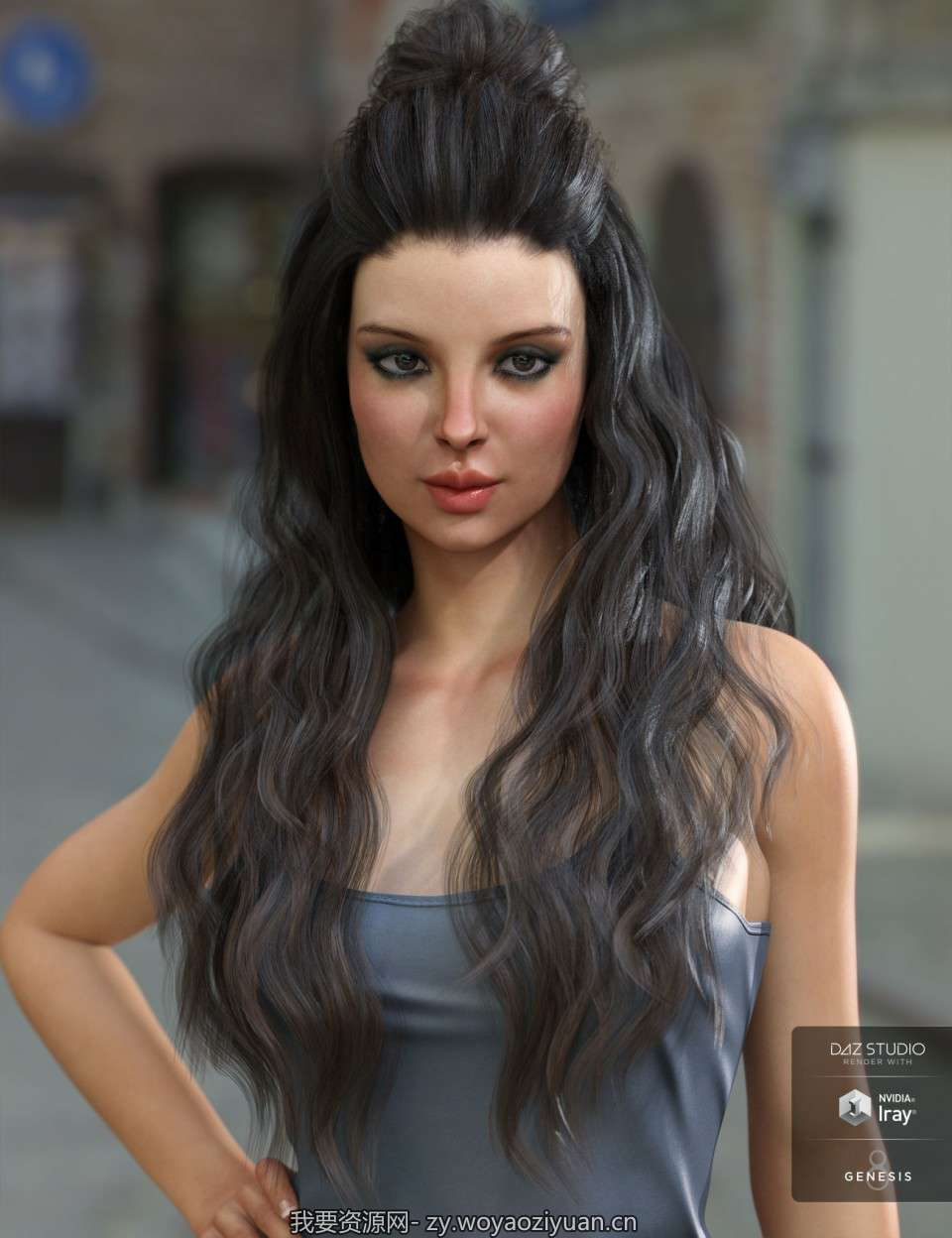 Ulani Hair for Genesis 3 & 8 Female(s)