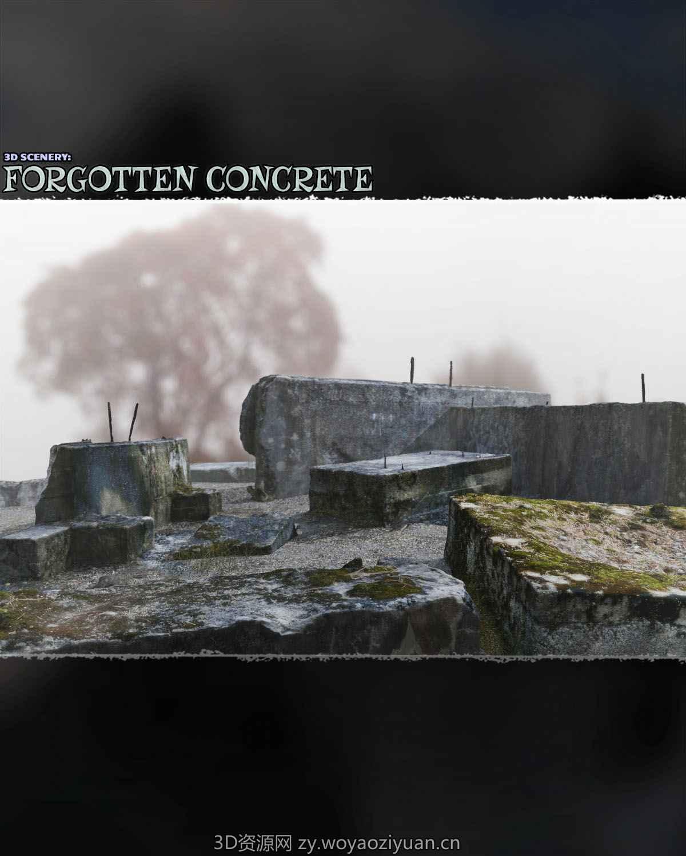 3d Scenery Forgotten Concrete