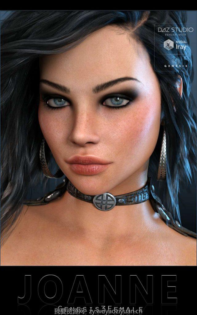 Seema Hair for Genesis 3 Female(s) - Daz Studio-我要资源网-daz模型资源