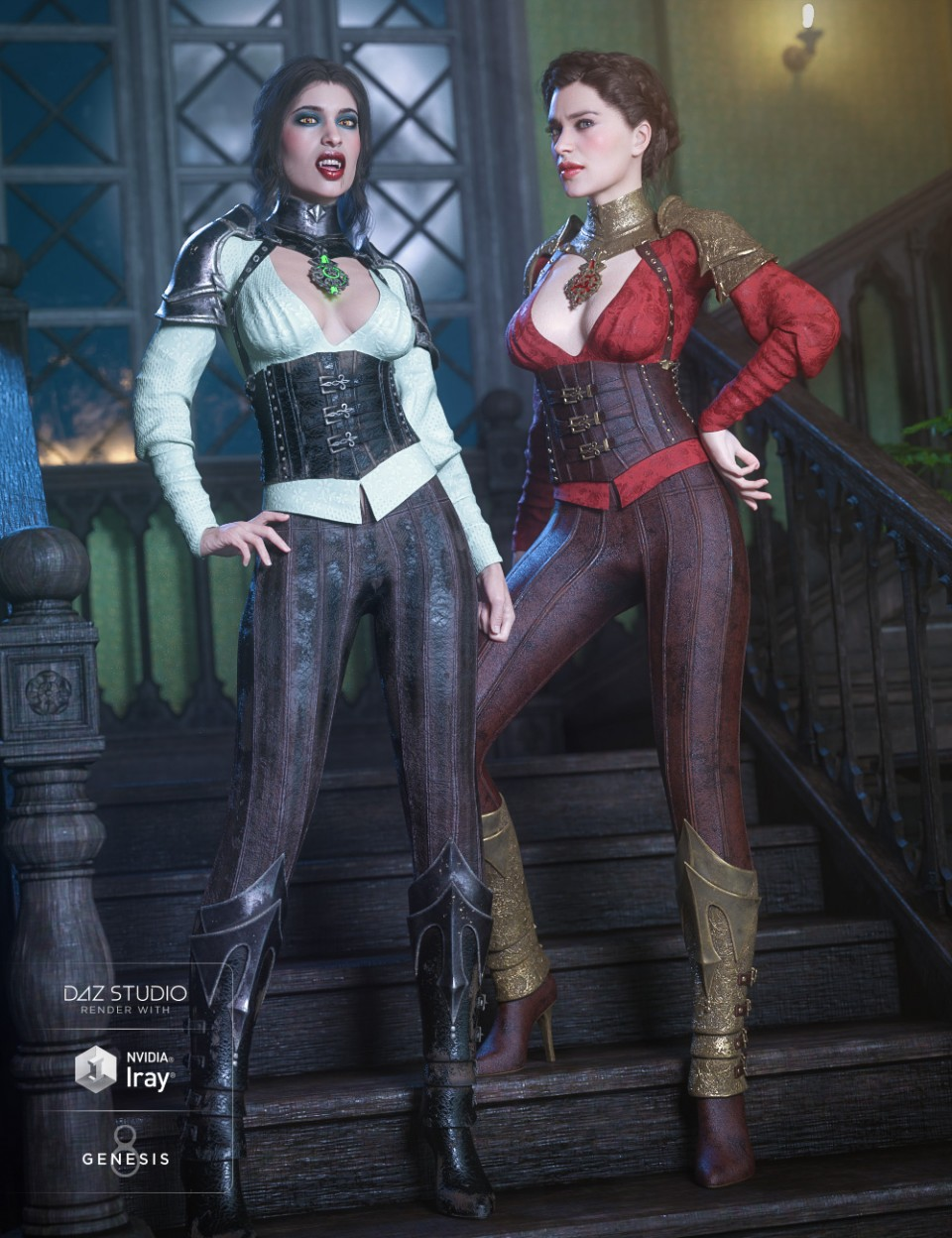 dForce Immortals Outfit Textures