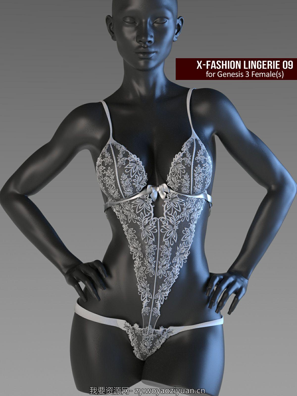 X-Fashion Lingerie 9 for Genesis 3 Females