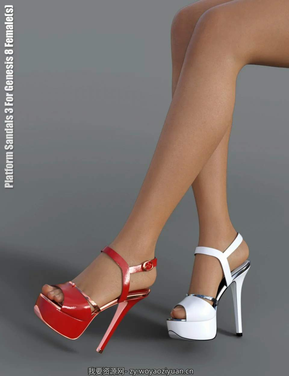 Platform Sandals 3 for Genesis 8 Female(s)