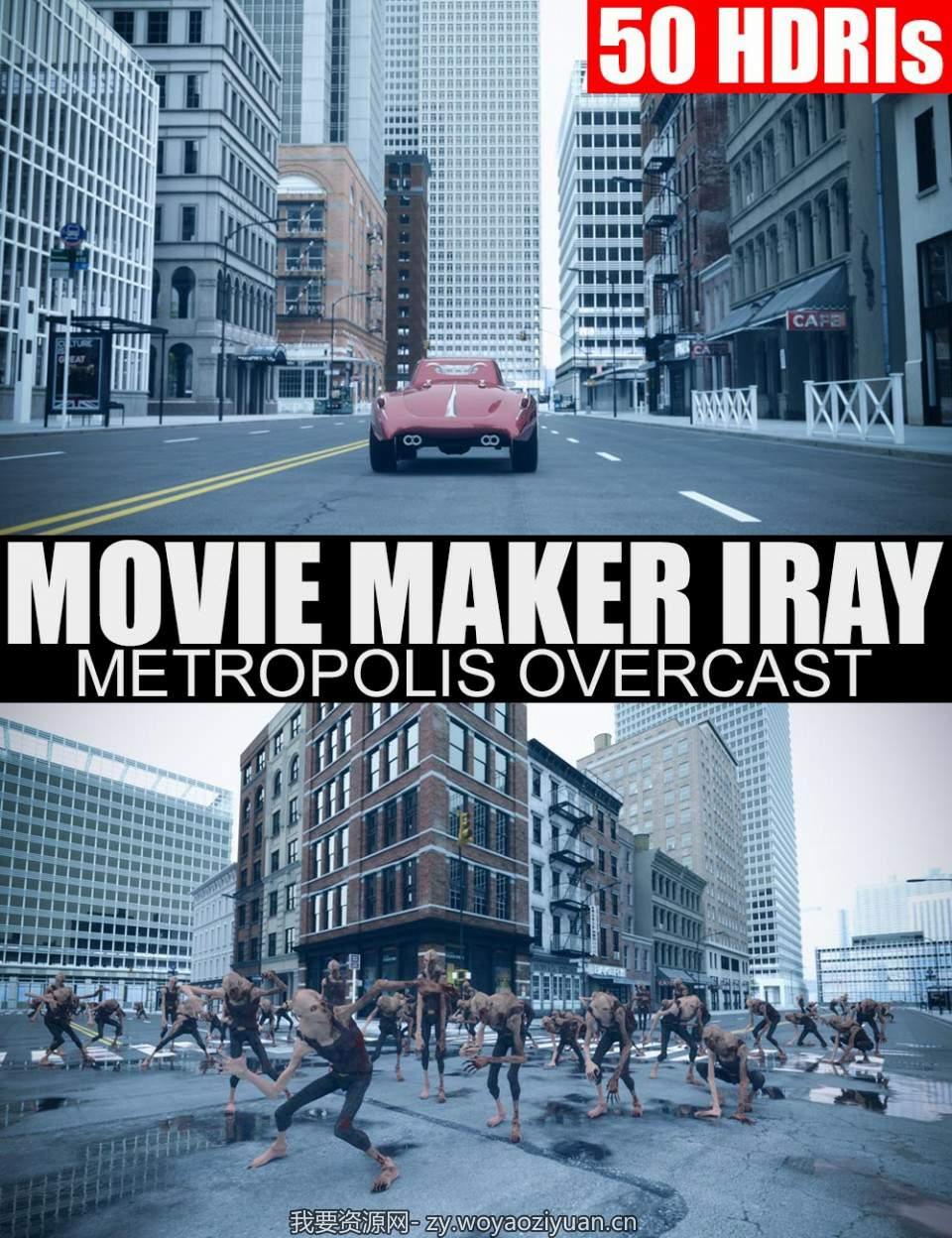 50 HDRIs – Movie Maker Iray – Metropolis Overcast