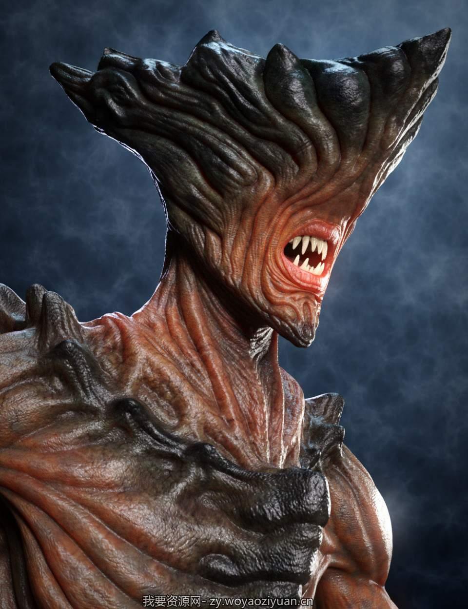 Uber Demon HD For Genesis 8 Male