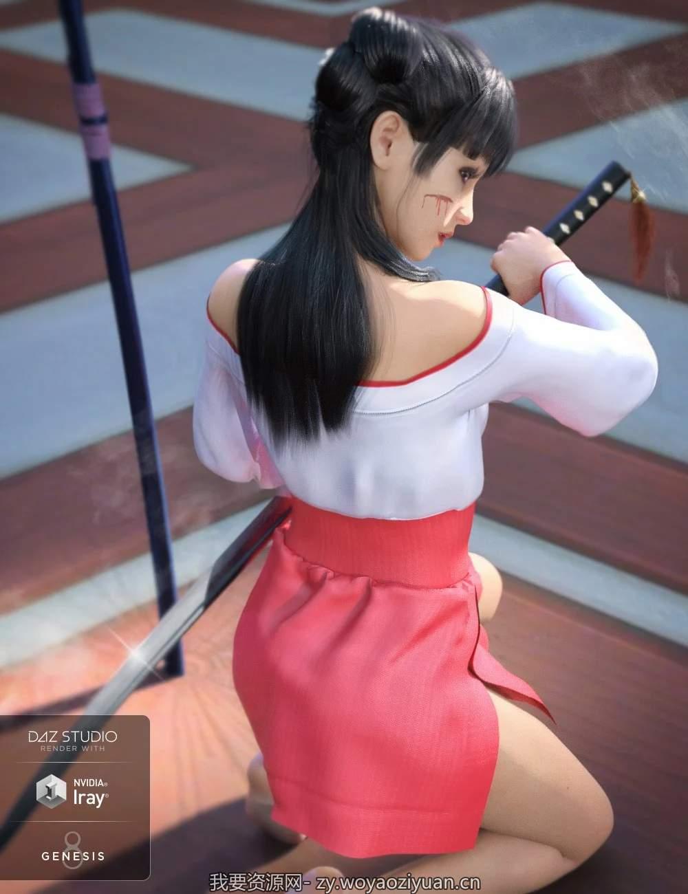 dForce Kimono for Genesis 8 Female(s)