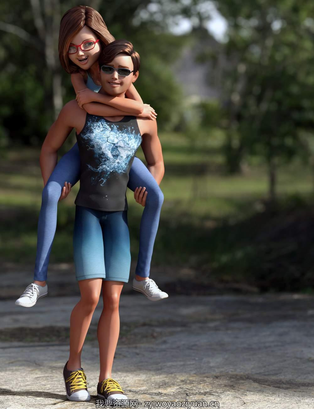 Stylized Megan and Matt Mega Bundle for Genesis 3 Female(s) and Male(s)