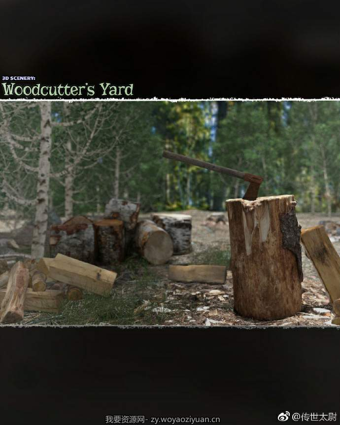 3D Scenery _ Woodcutter's Yard