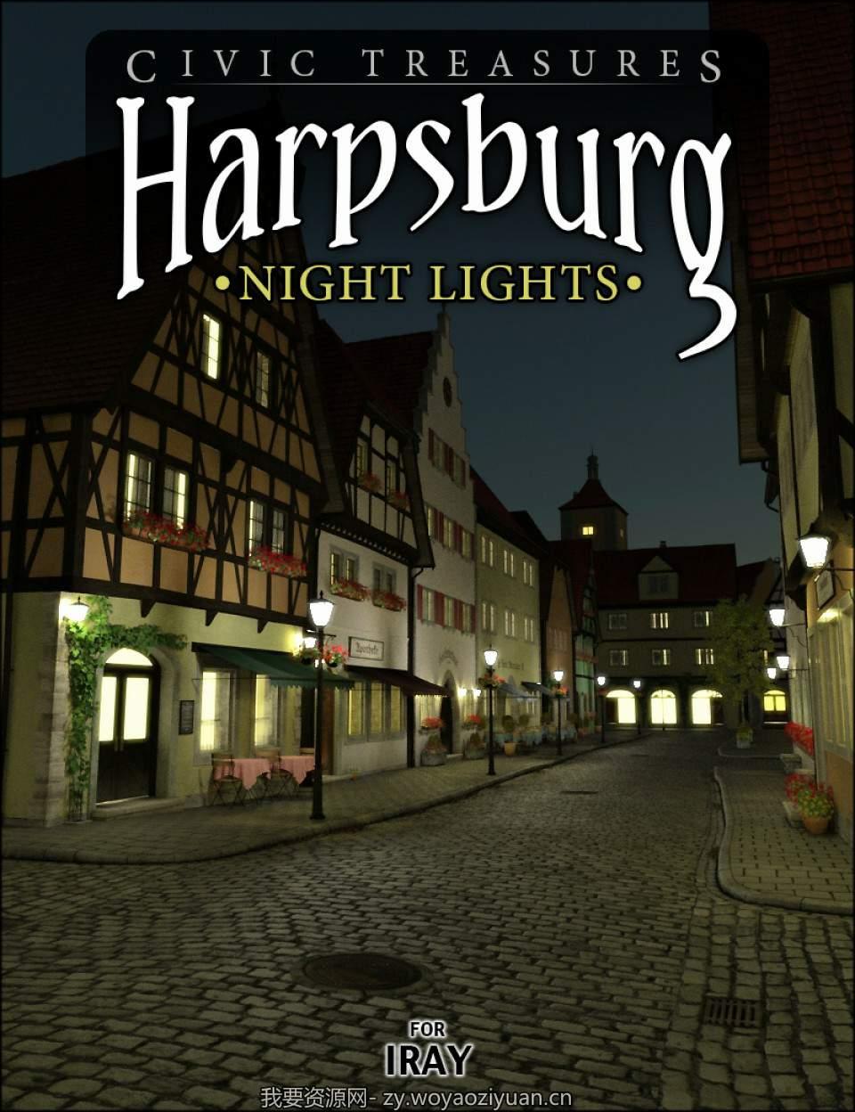 Harpsburg Night Lights for Iray