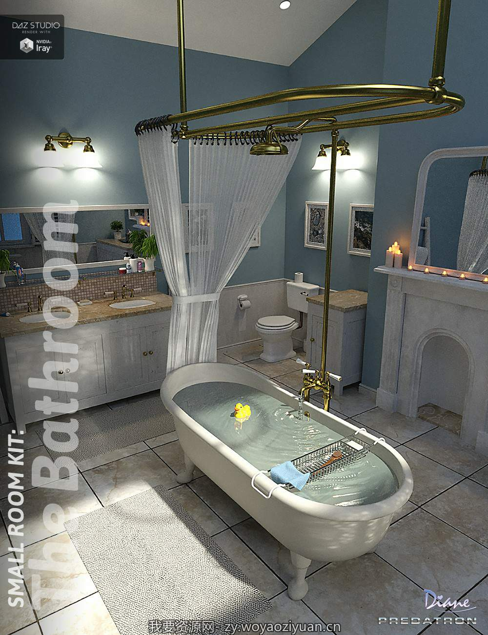 Small Room Kit Bathroom Props