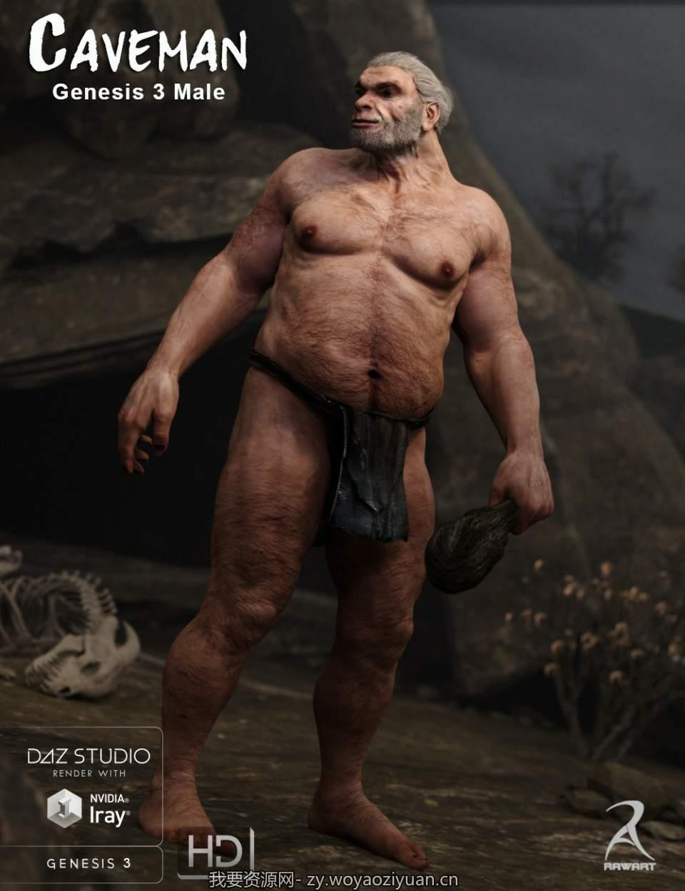 Caveman for Genesis 3 Male