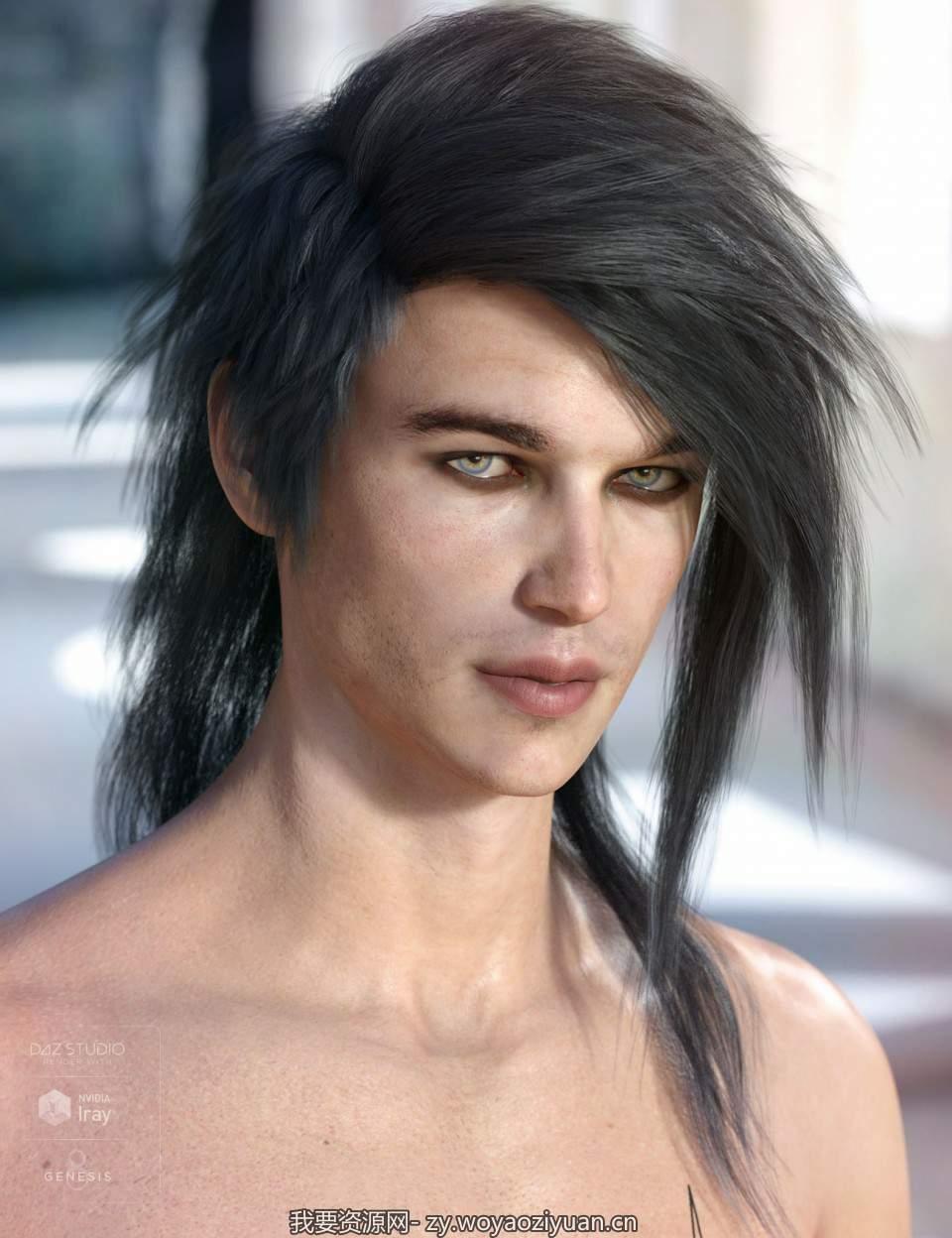 Bastien Hair for Genesis 3 & 8 Male(s)