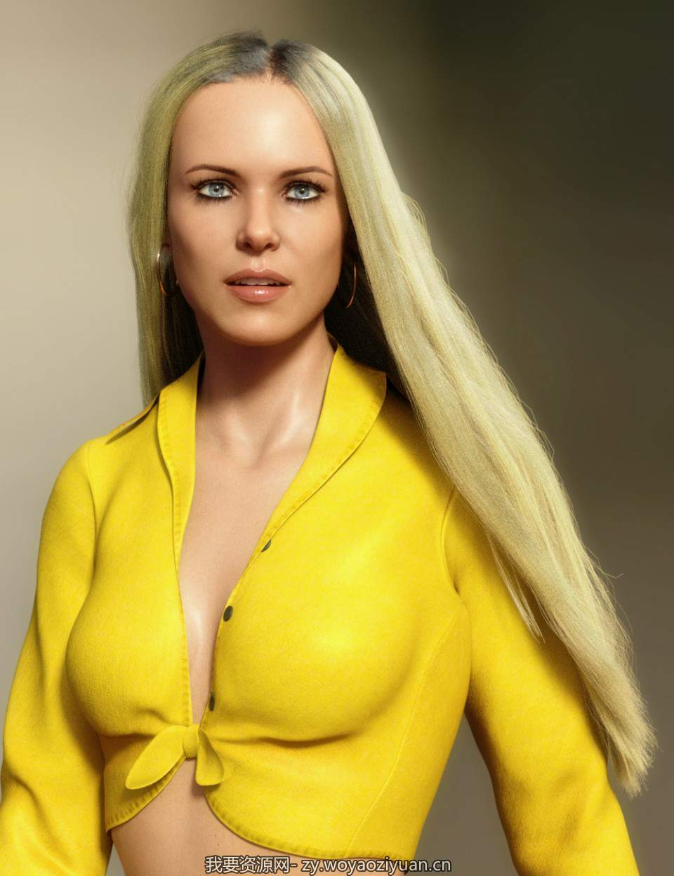 dForce Longdrape Hair for Genesis 3 and 8 Female(s)