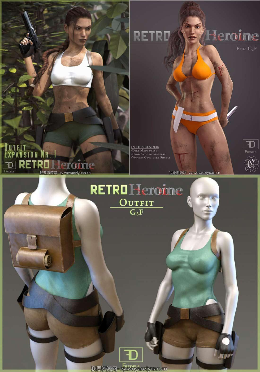 Retro Hero Bundle for Genesis 3 Female(s)