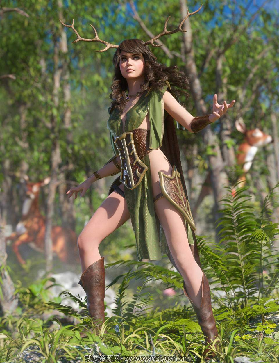 dForce Wood Warden for Genesis 8 Female(s)