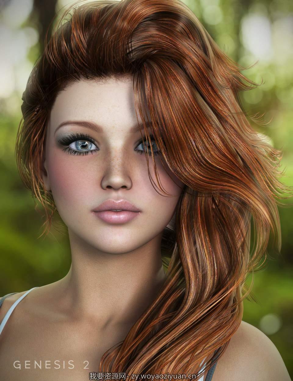 End of Summer Hair for Genesis and Genesis 2 Female(s)