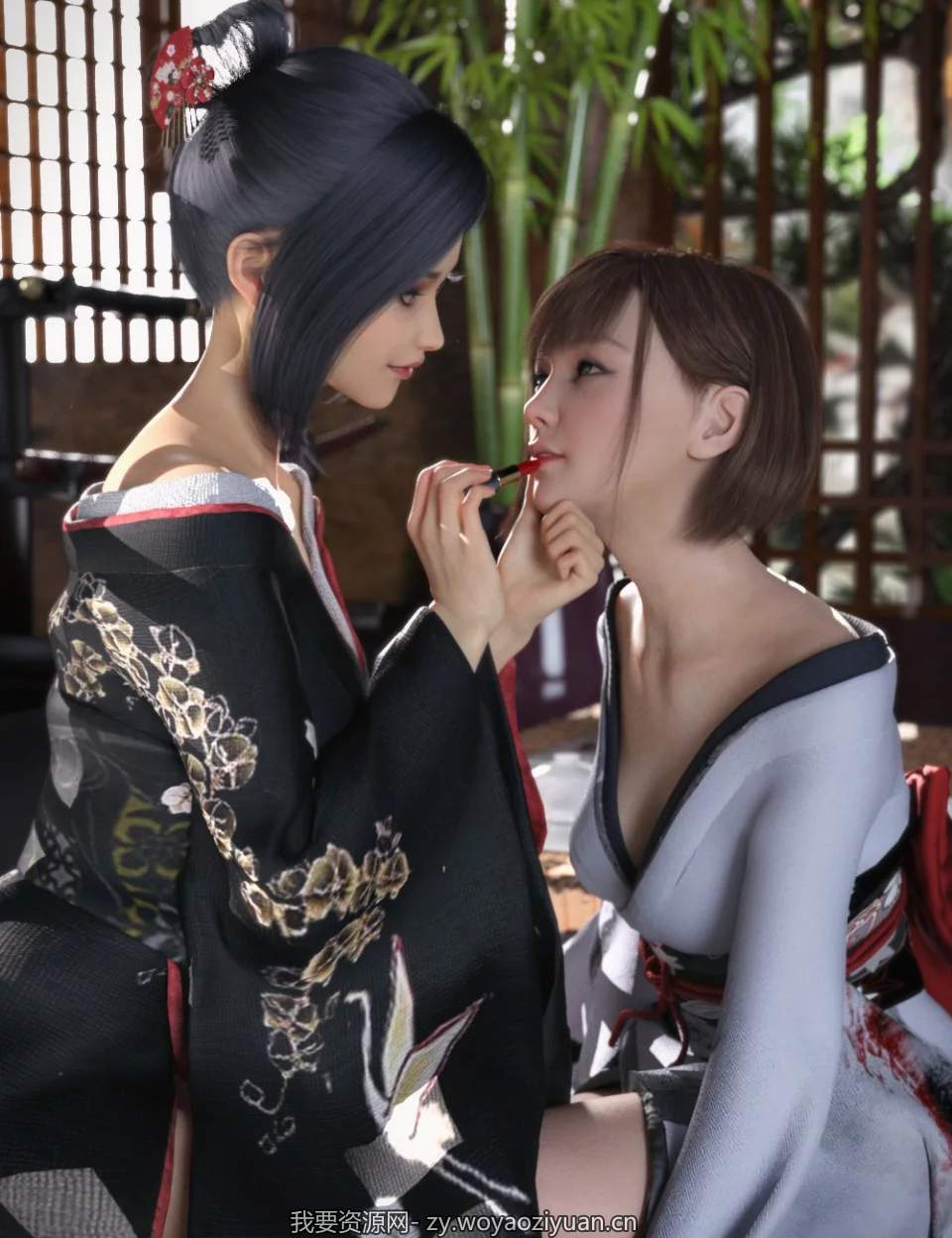 dForce CO Kimono for Genesis 8 Female(s)