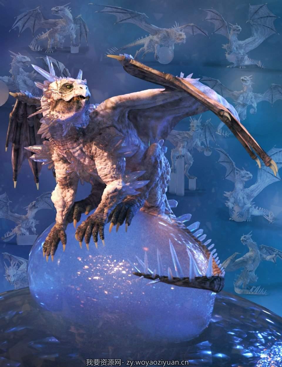 Quixotry's Crystal Dragon Poses