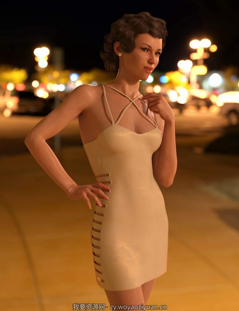 dForce After Sundown Dresses for Genesis 8 Female(s)