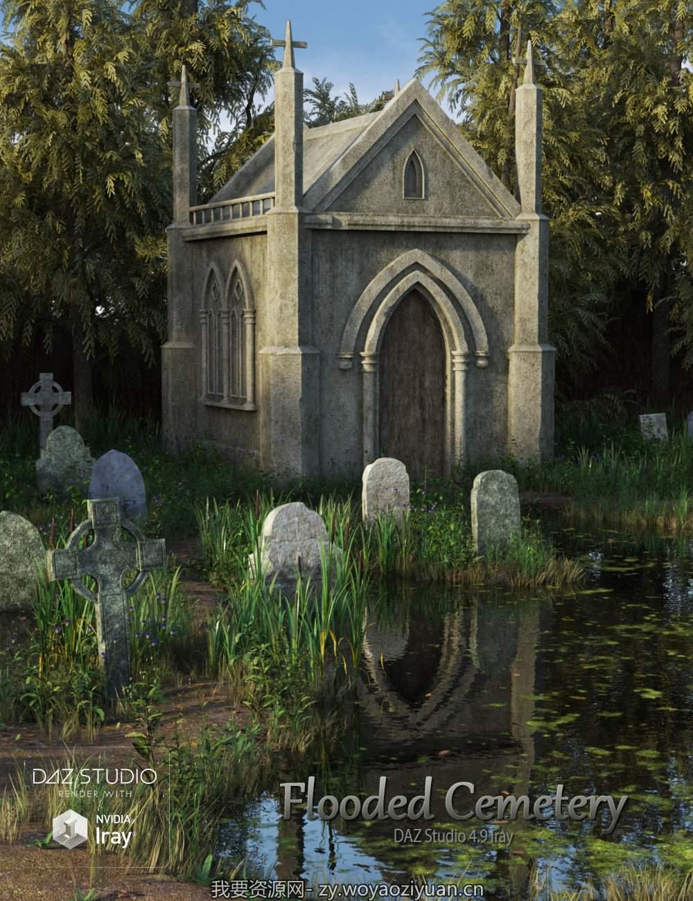 Flooded Cemetery