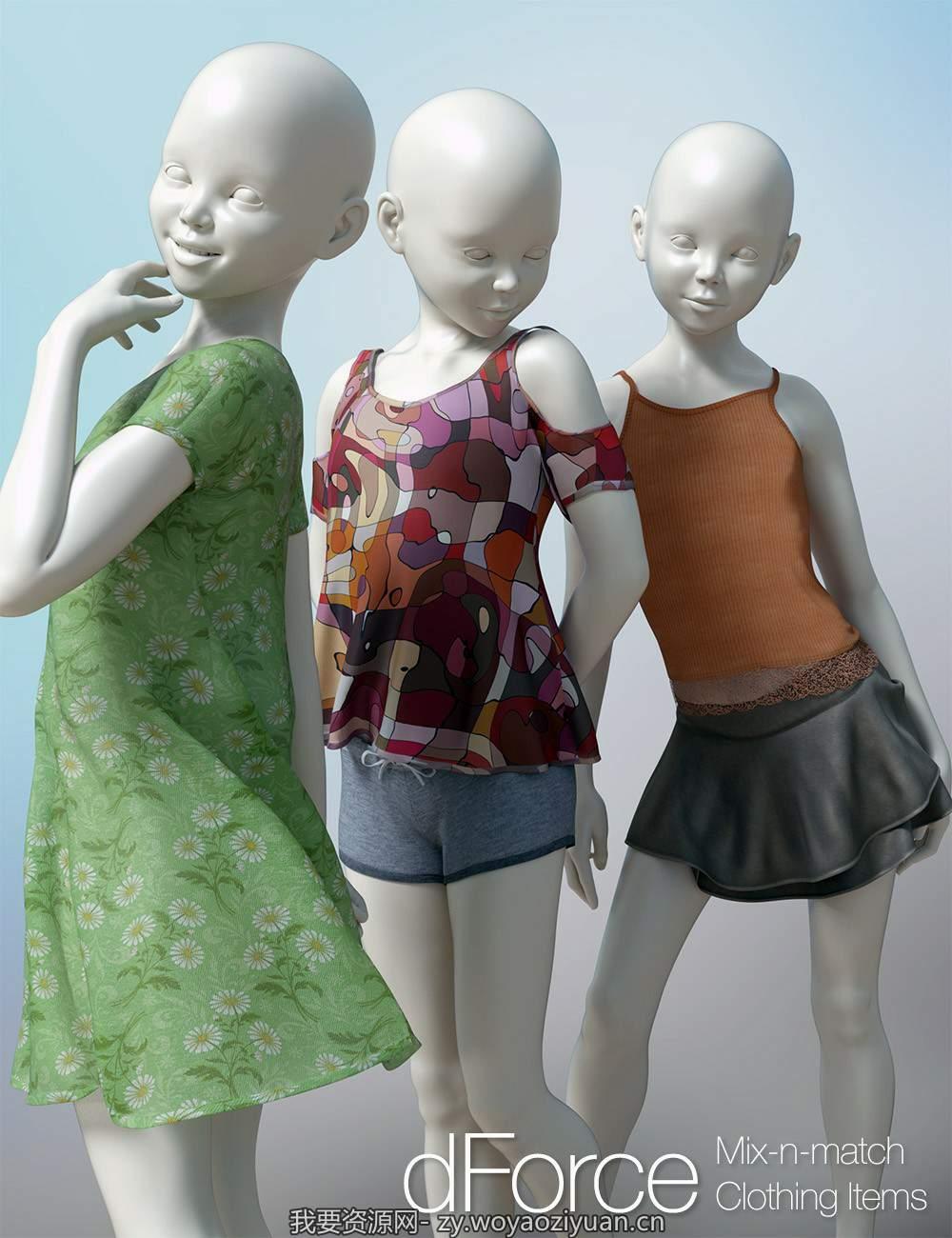 dForce Clothing Set 01 for Genesis 8 Female(s)