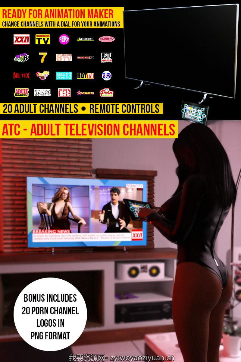 Adult TV For Daz Studio Iray