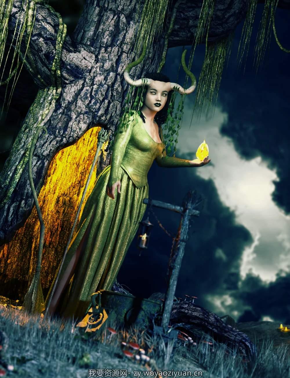 Arcane Enchantress Appurtenances for Genesis 8 Female