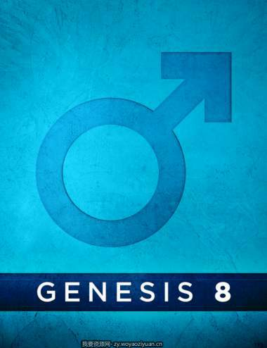 Genesis 8 Male Anatomical Elements