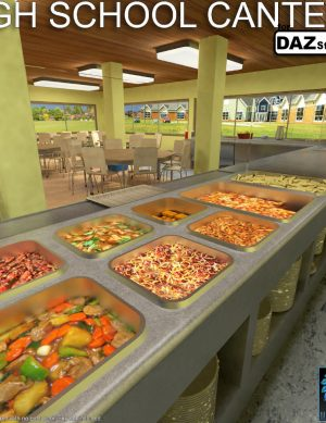 High School Canteen for Daz