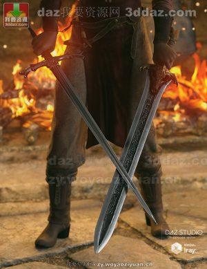 Fantasy Devourer and Excalibur Swords for Genesis 8